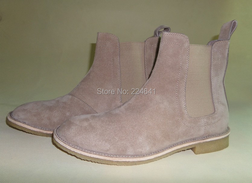 2016 men chelsea boots kanye west boots leather 1:1 style  Euro40-44 - Men's Shoes - Photo 4