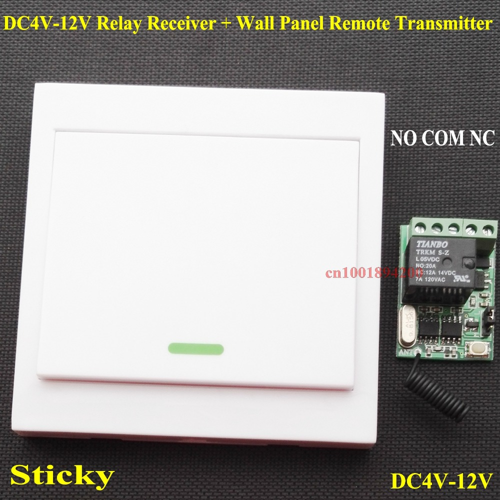 4.5V 5V 6V 7.4V 9V 12V Mini Relay Receiver Remote Control Switch NO COM NC Contact ASK Smart Home Wall Panel Remote Transmitter dc 4v 5v 6v 7 4v 9v 12v mini relay remote control switch no com nc contact rf 15 pcs receiver transmitter wireless rx tx 315433