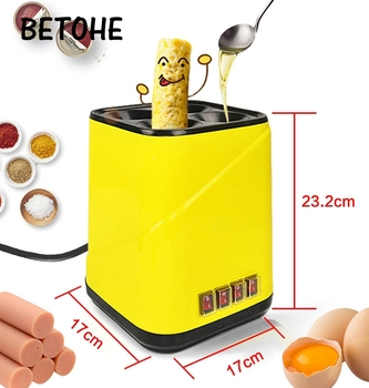 BETOHE Automatic Roll Maker electric Egg Boiler Cup Omelette Breakfast maker Non-stick Kitchen Cooking Tool 220V heat separately