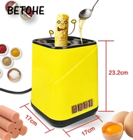 BETOHE Automatic Roll Maker electric Egg Boiler Cup Omelette Breakfast maker Non stick Kitchen Cooking Tool 220V heat separately