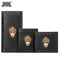 Мужской кошелек из натуральной кожи JIVIVIL 2019 Monkey King ручной работы в стиле ретро