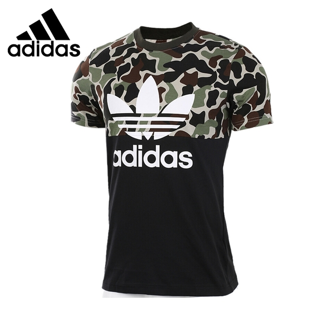 Original New Arrival 2017 Adidas Originals S/S CAMO COLOR Men's T-shirts  short