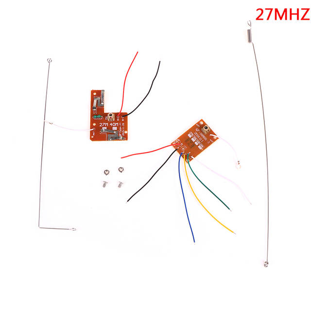 Remote Control Circuit Board PCB Transmitter Receives Antenna Toys 4CH 27MHZ