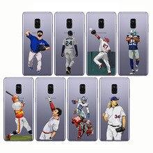 soft silicone phone cases cover baseball cartoon Bryce Harper for Samsung A3 2014  A6 A8 A9 2018 A7 2017 Plus