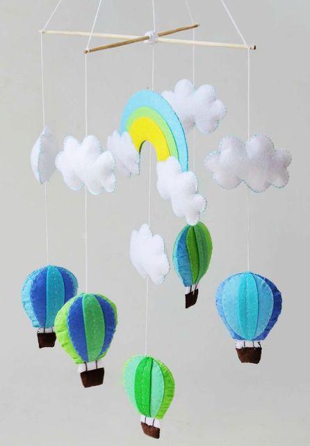 DIY Sewing Material Bag Hot Air Balloon Wind Chimes Hanging ...