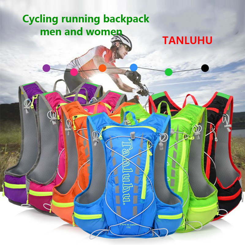 TANLUHU 15L Cycling Running Backpack Male Female Ultra Light Breathable Cycling Cross Country Marathon Water Bag Backpack 450g