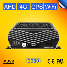 4G LTE GPS WIFI AHD Moblie Dvr 1080 4CH Vehicle Monitoring System Video Dvr I/O Alarm PC/ Phone Online Watching 2TB HDD Mdvr