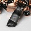 High quality Tech M Sport fashion Chrome metal + leather car keyring keychain key chain rings for BMW X1/X3X4X5 1/2/3/5/7 Series