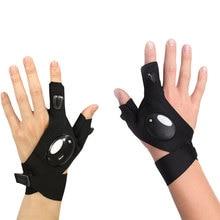 Dewtreetali Nighttime Car&motorcycle repair tools Magic Strap Fingerless Glove LED Flashlight Torch Cover Survival Rescue Tool