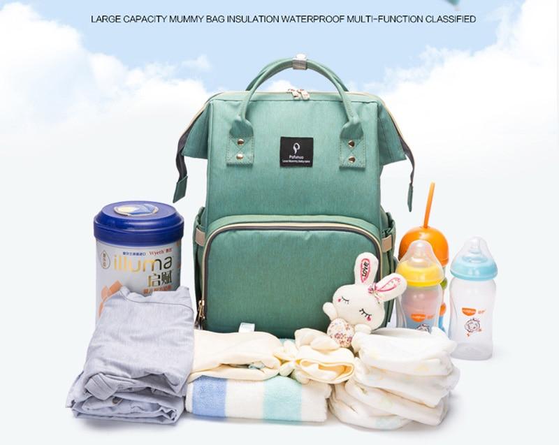 HTB1ljtJcvImBKNjSZFlq6A43FXaq Baby diaper bag mommy stroller bags USB large capacity waterproof nappy bag kits mummy maternity travel backpack nursing handbag