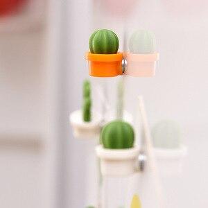 Image 4 - 6 개/대 귀여운 선인장 즙이 많은 식물 냉장고 자석 단추 냉장고 메시지 스티커 어린이 선물 냉장고 액세서리
