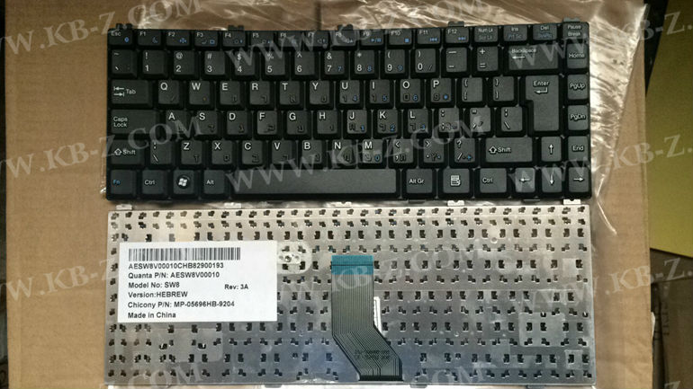 HB Hebrew keyboard For Founder A600 T400 Haier T621 T628 V86 7 Up V88 ShenZhou SW8 black Laptop Keyboard