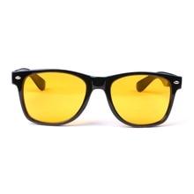 Unisex Square Yellow Lenses Acrylic Night-Vision Glasses Driving Glasses