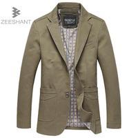 Zeeshant 새로운 브랜드 재킷 남성 캐주얼 재킷 파카 남성 슬림핏 재킷 육군 녹색 카키 플러스 사이즈 XL-5XL 재킷