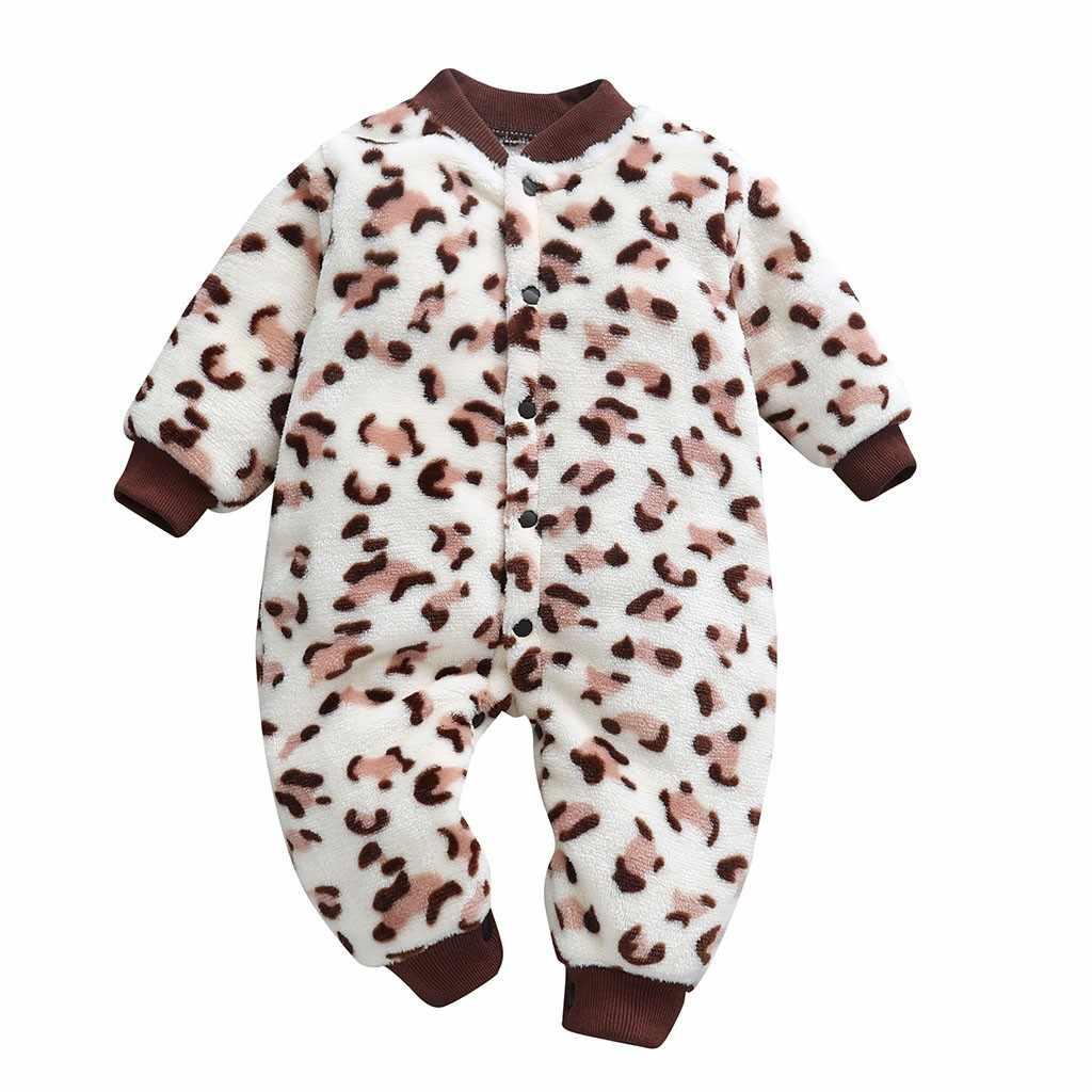 5b07559a230d MUQGEW Autumn Baby Flannel Clothes Newborn Infant Baby Girls Boys Cartoon  Leopard Print Jumpsuit Romper Clothes