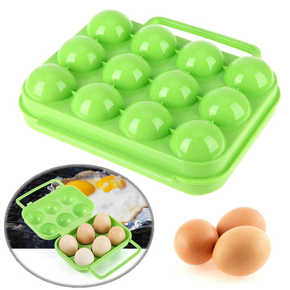 Egg Container Storage box 12 grid Bilayer Basket Food organis
