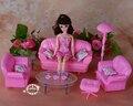 Новые Куклы аксессуары Принцесса розовый моделирование мебель гостиной диван для куклы барби diy игровые наборы девушка игрушки 1/6