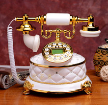 The new jade antique telephone phone phone telephone landline phone European fashion luxury villas european antique telephone set classical rotary dial telephone resin classical telephone