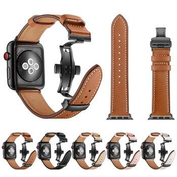 Кожаный ремешок для Apple watch band 4 3 мм 44 мм 40 мм iwatch серии 21 42 мм 38 мм correa Браслет Ремешок Замена браслет ремень