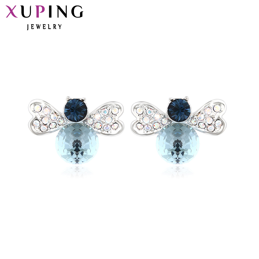 Masaje solicitud Enemistarse  Xuping Fashion Earrings for Women Wholesale High Quality Crystals from  Swarovski Color Plated Charm Design Gift M4 20030|Stud Earrings| | -  AliExpress