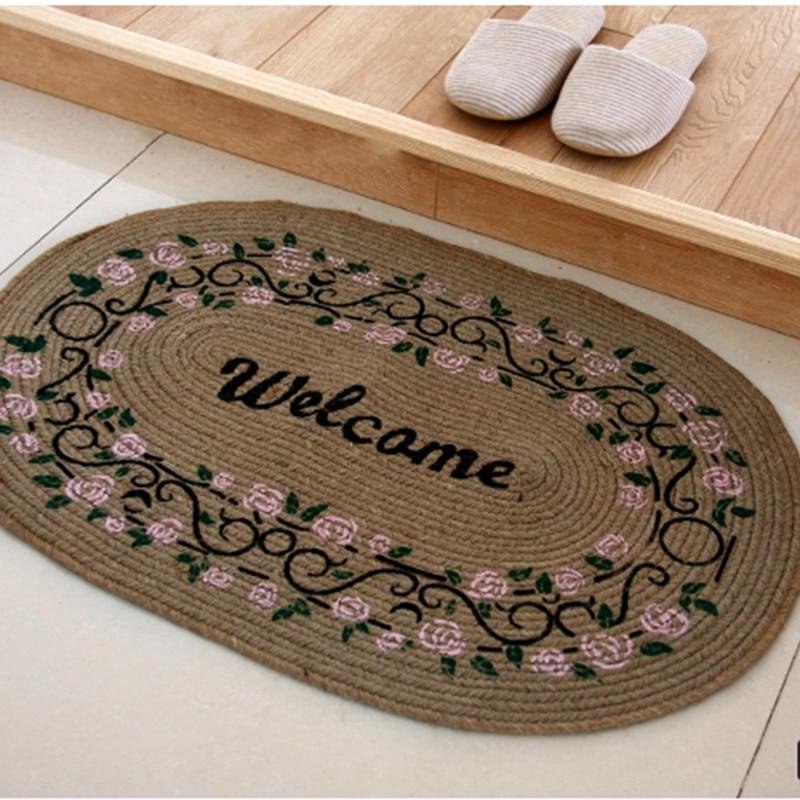 American Linen Handmade Hallway Mat Cartoon Fl Printing Thick Living Room Braided Rug Anti Slip Floor Mats Home Textile In From Garden On