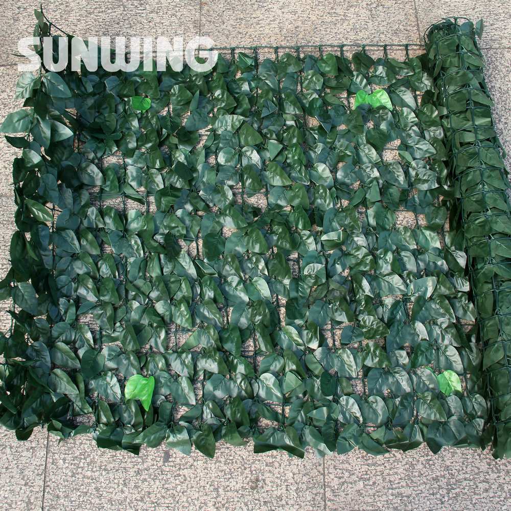 Sythenic Foliage Plant Leaves Hedges Roll 1m x 3m Decorative Leaves Fencing Screening Wall Boxwood Buxus Garden Fence DIY