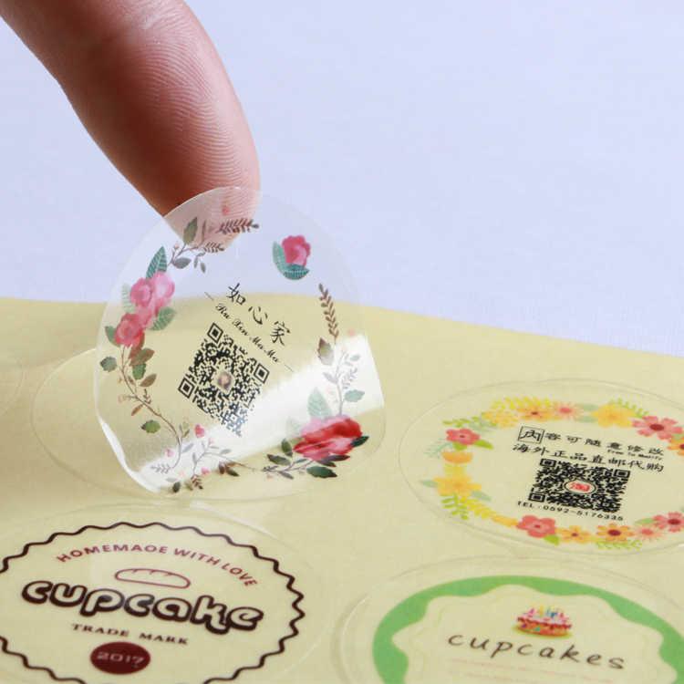 Impresión Personalización de foto etiqueta adhesiva pegatinas de boda personalizar LOGO transparente adhesivo redondo Etiqueta de regalo etiquetas Decoración