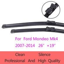 """De alta calidad Parabrisas Limpiaparabrisas para Ford Mondeo Mk4 2007-2014 26 """"+ 19"""" Accesorios Del Coche de Goma Suave Limpiaparabrisas"""