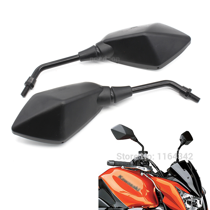 1 pair Black Custom Aluminum Motorcycle moto Mirror Rearview Side Mirrors For Kawasaki Z750 Honda Yamaha ATV Free Shipping1 pair Black Custom Aluminum Motorcycle moto Mirror Rearview Side Mirrors For Kawasaki Z750 Honda Yamaha ATV Free Shipping