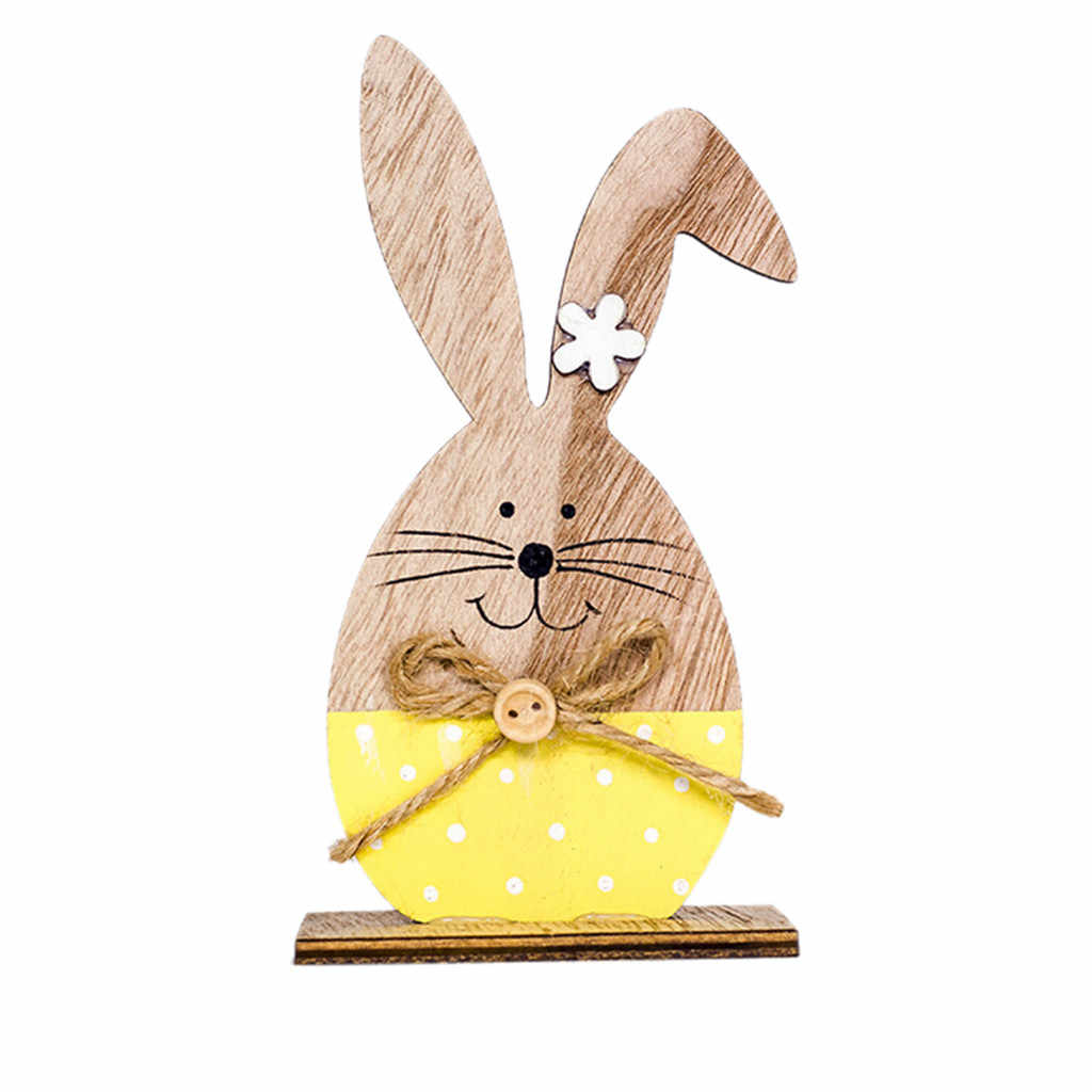 2019 New Fashion Easter Decorations Wood Easter Cute Rabbit