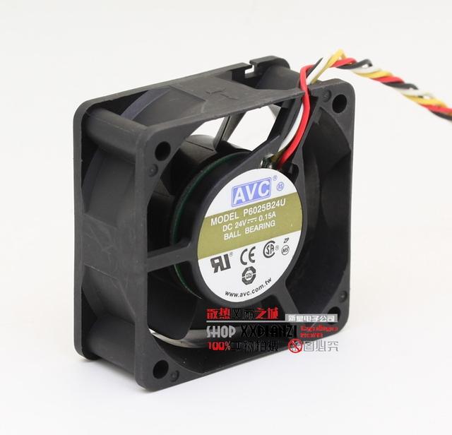 Original impressora P6025B24U 6025 24 V 0.15A 6 CM dupla bola com ventilador de refrigeração