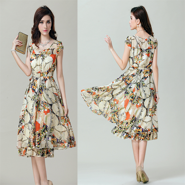 floral dresses for women casual knee length