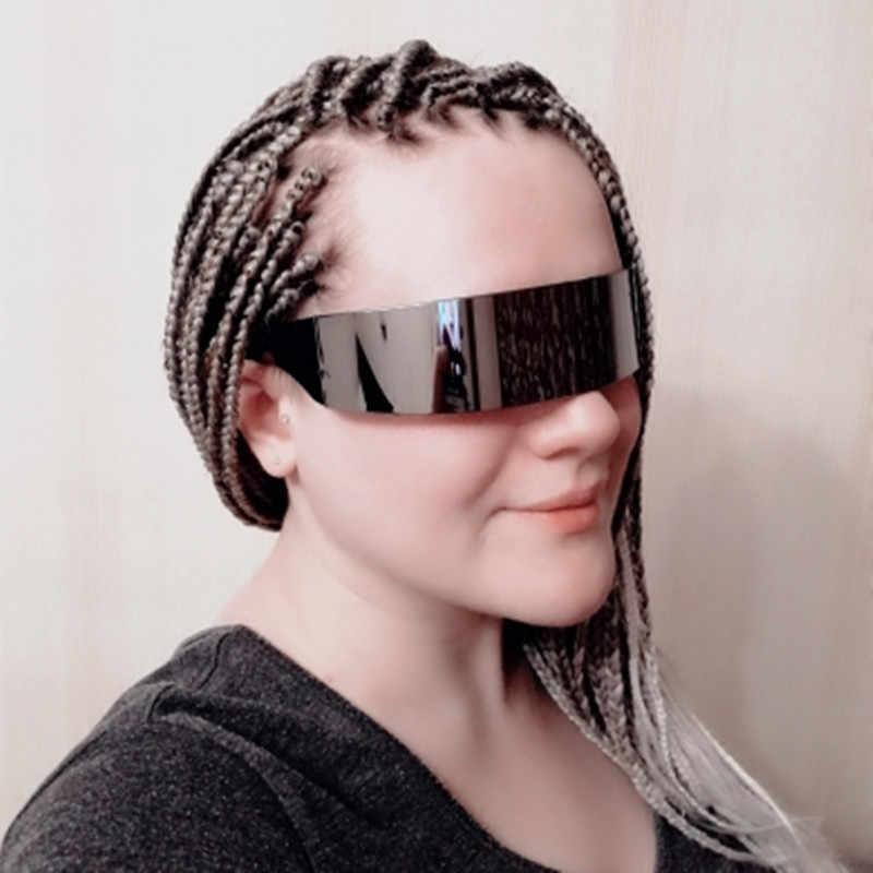 YOOSKE Lucu Pesta Wrap Kacamata Pria Wanita Cosplay Kostum Masker Baru Kacamata Halloween Wanita Busana Pesta Nikmat Kacamata