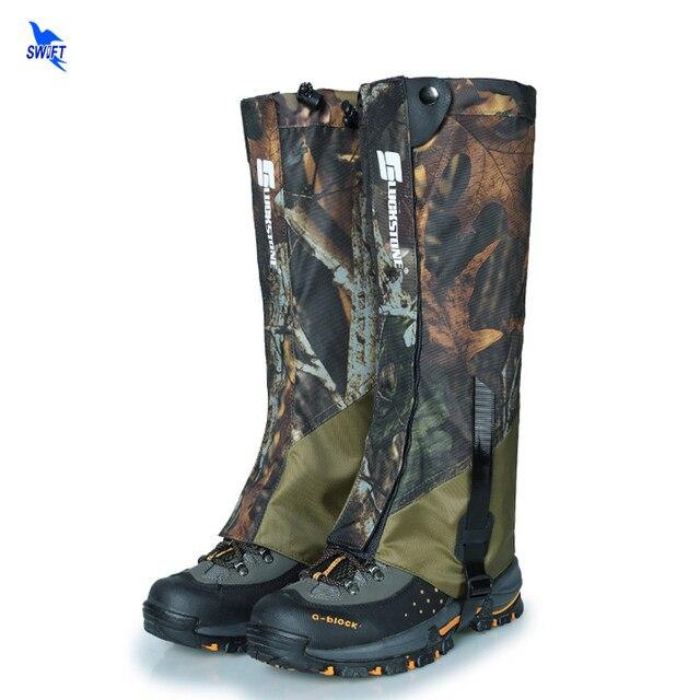 NEW Camouflage 1 Pair Waterproof Outdoor Hiking Walking Climbing Hunting Trekking Snow Legging Gaiters Wear Resistance Leg Cover