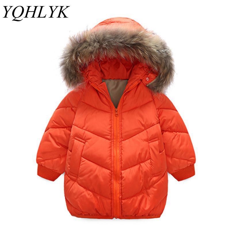 New Fashion Winter Cotton Boy Girl Baby Coat 2018 Children Zipper Hooded Thick Warm Jacket Casual Comfortable Kids Clothes W132 girl kids fashion pu leather jacket coat 2018 new winter autumn thick rabbit s hair hooded big baby boy girl motorcycle outwear