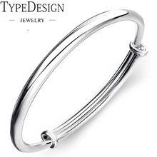 ab38ba9c638 silver 999 bracelet for Women Fashion Round Bangle Bracelet Femme Wristband  Beleklik jewelry adjustable bangle sterling silver
