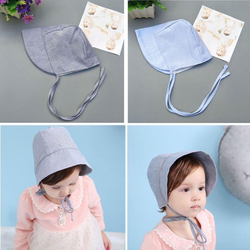 Baby Hat Summer Vintage Infant Bonnet Hat Adjustable Toddler Girls Lovely Beanie Infant Hat Photo Props in Hats Caps from Mother Kids