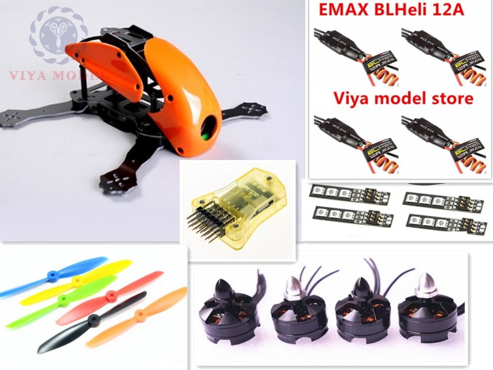 DIY FPV race mini drone Robocat 270 quadcopter frame kit 4-axis pure carbon CC3D + D2204 + BL12A ESC + LED light Special price diy mini drone fpv race nighthawk 250 qav280 quadcopter pure carbon frame kit naze32 10dof emax mt2206ii kv1900 run with 4s