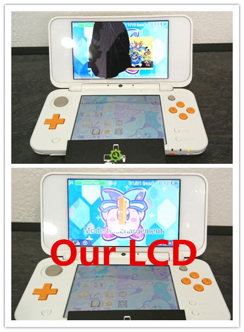 Original New Top LCD Replacement For New 2DS XL For New 2DS LL