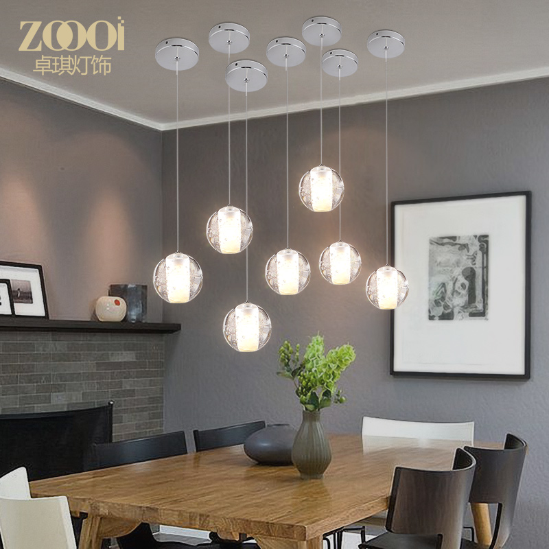 A1 Crystal glass ball modern pendant lights living room bedroom dining room lamps and lanterns personalized dining led ZL274 a1 modern simple led crystal chandelier three head hanging lamps and lanterns lamps and lanterns artistic originality individual