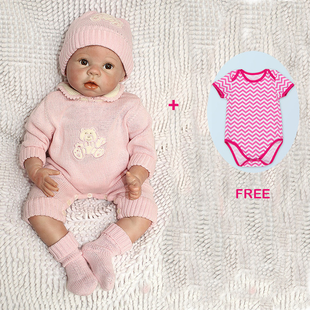 22 polegada lifelike boneca reborn baby doll e um conjunto de combinado livre roupas