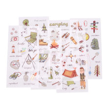 6 Pages/Pack Camping equipment Travelling Life Decorative Planner Stickers DIY Diary Scrapbooking Phone Index Seal Stickers(China)