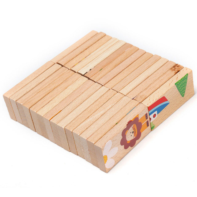 Wooden Domino Blocks (28 pcs)