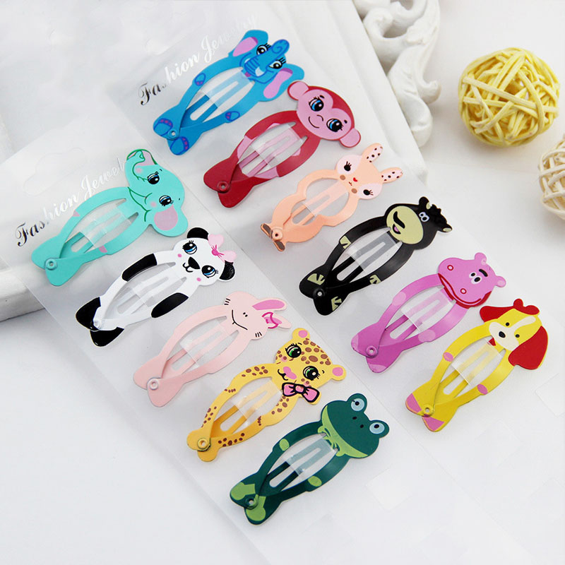 Fashion 2PCS/Pair Hot Sale Lovely Animal Hairpin Popular Colorful BB Clips Baby Children Kids Hair Accessories