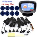 8 Rear and Front View Car Parking Sensors with LCD Display Monitor parking sensor high quality 44 colors available reverse radar