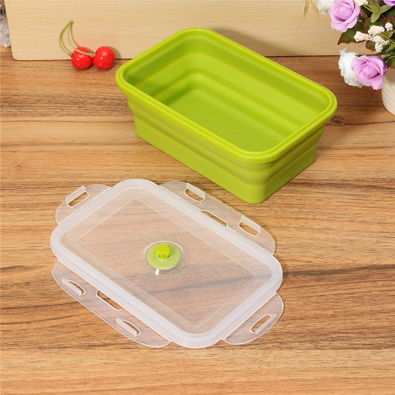 hot sale silicone collapsible portable lunchbox. Black Bedroom Furniture Sets. Home Design Ideas