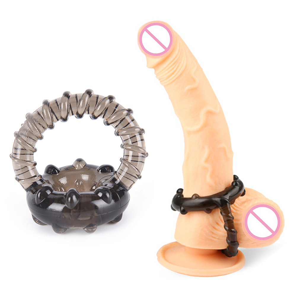 New 1Pcs Soft Silicone Time Delay Erection Cock Ring Dual Cock Ring For Men Sexy Rings