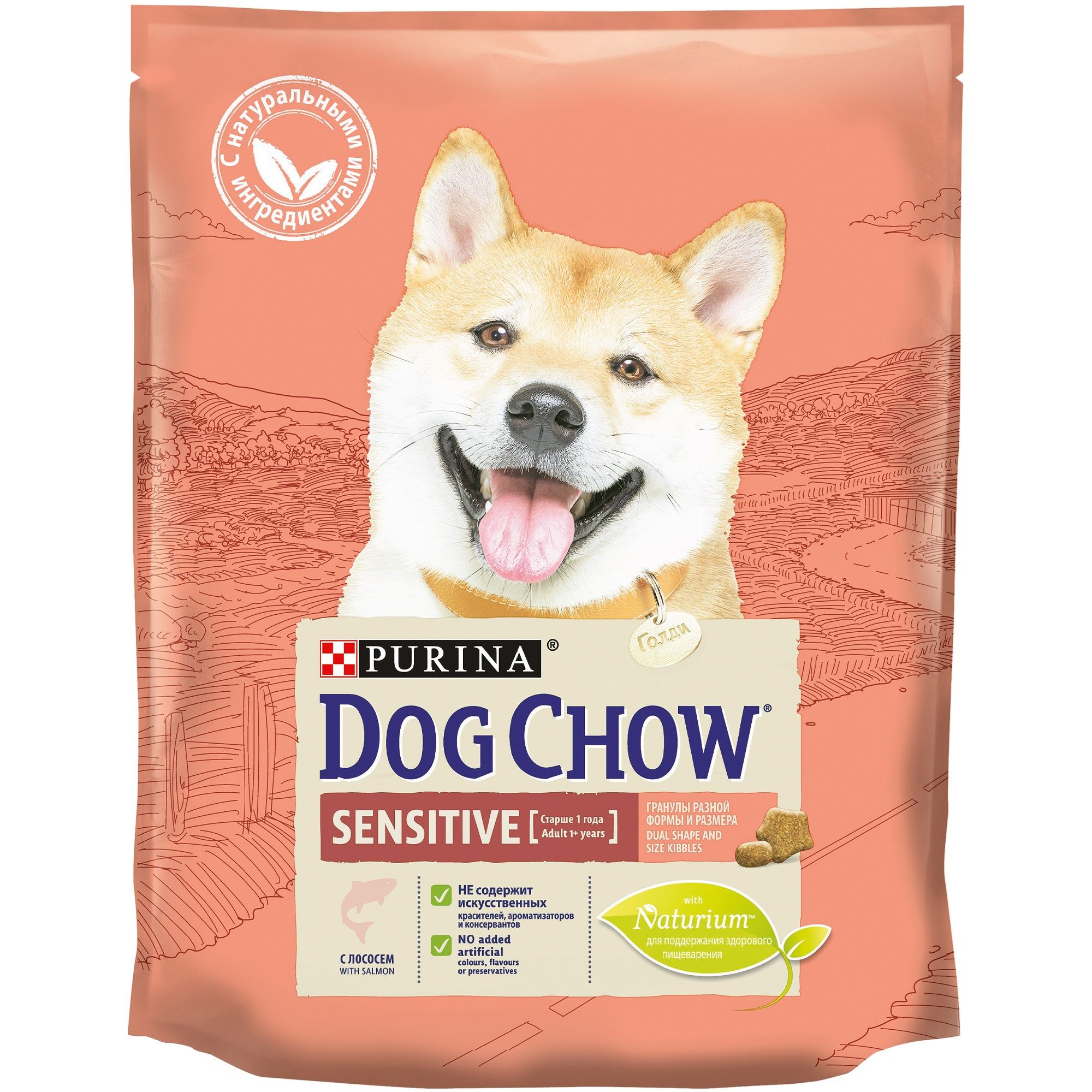 Dog Chow dry food for adult dogs with sensitive digestion, with salmon, Pack, 800 g dog food dog chow adult sensitive for adult dogs of all breeds with sensitive digestion salmon 2 5 kg