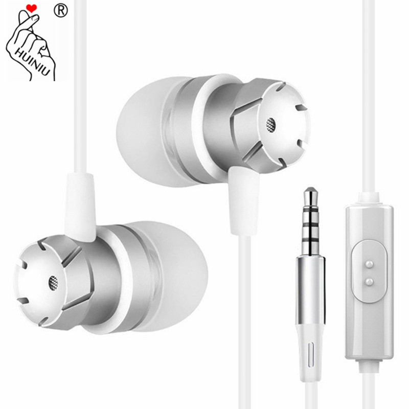 Sport Earphone Metal Stereo Head phones with Mic Earbuds In-ear Headset Handsfree Bass Sound for iPhone Xiaomi mi Ear phones kz ates ate atr hd9 stereo sport earphones with mic for phone earphone dj earpieces bass headset runing earbuds hifi ear phones