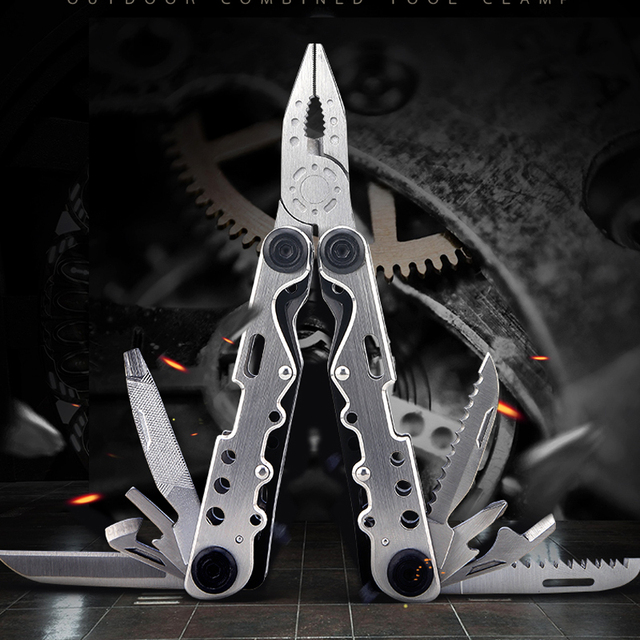 H1080 Outdoor tactical equipment multi-purpose stainless steel 11-in-one multi-function folding tool pliers portable EDC
